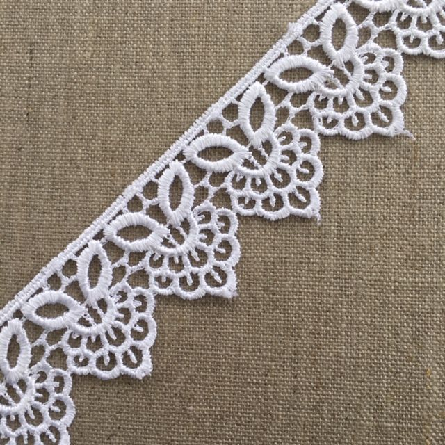 37mm White Guipure Lace