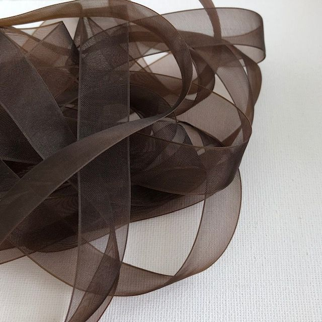 Brown Organza Chiffon Ribbon