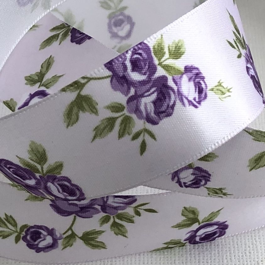 Classic Rose Lilac Purple  Satin Ribbon 25mm