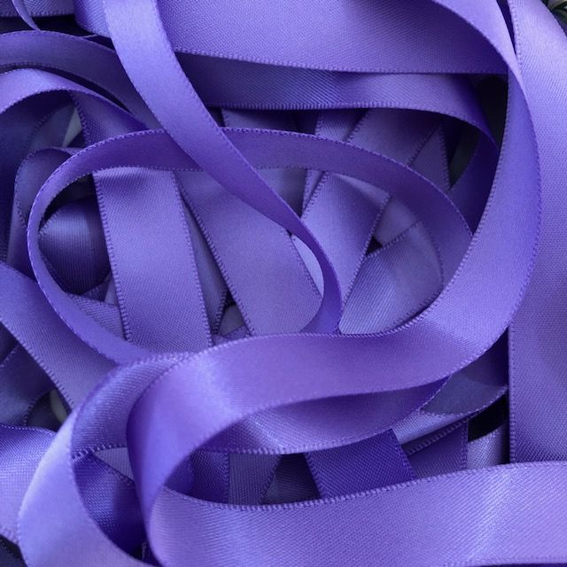 Delphinium Double Satin Ribbon