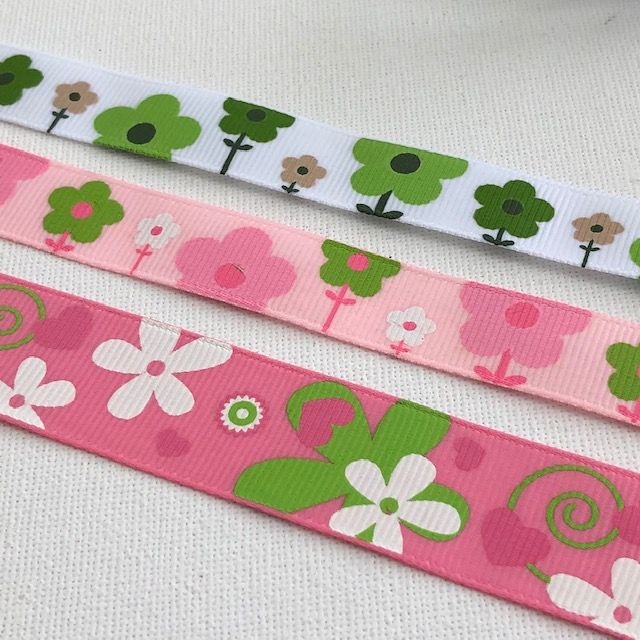 Flower Patterned Ribbons