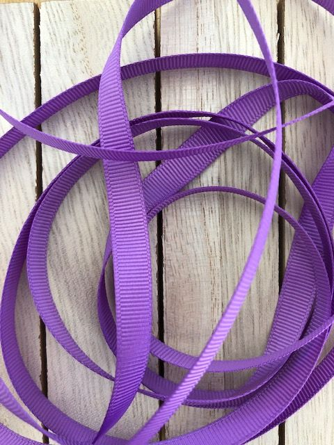 Grape Grosgrain Ribbon