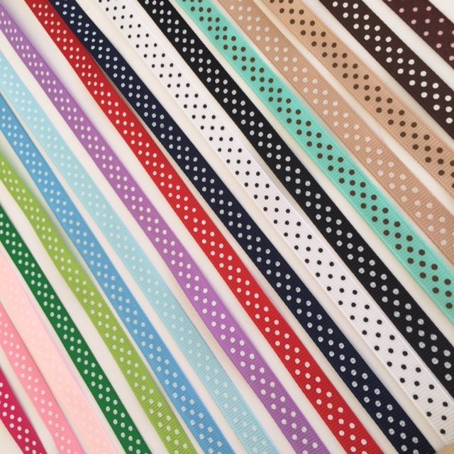 Grosgrain Polka Dot Ribbon