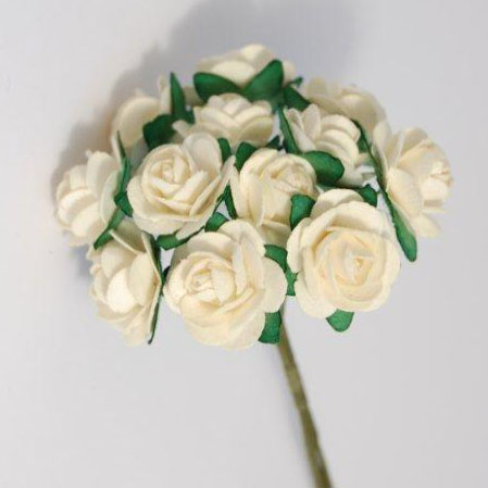 Medium Ivory Paper Tea Roses REDUCED