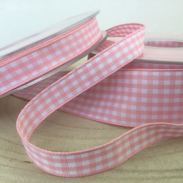 Pink Gingham Check Ribbon