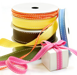 Grosgrain Saddle Stitch Ribbon