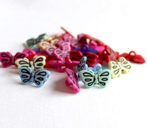Small Butterfly Buttons Assorted Colours