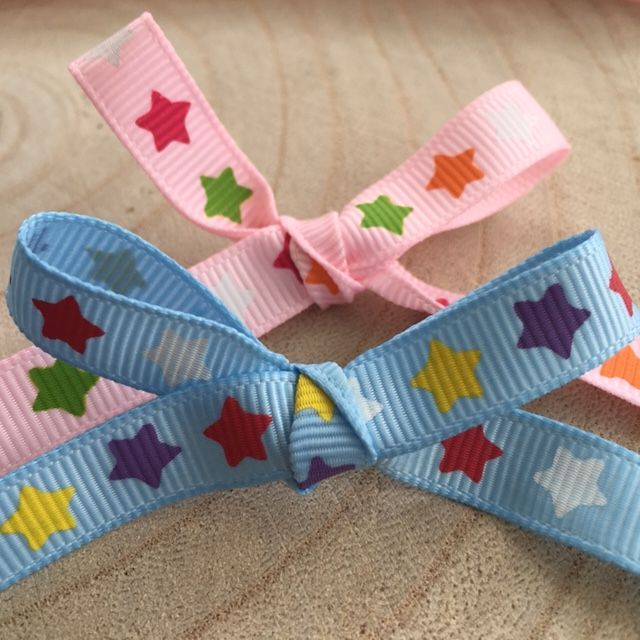 Star Patterned Grosgrain Ribbon