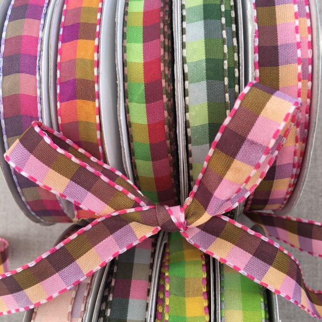 Taffeta Checked Ribbon