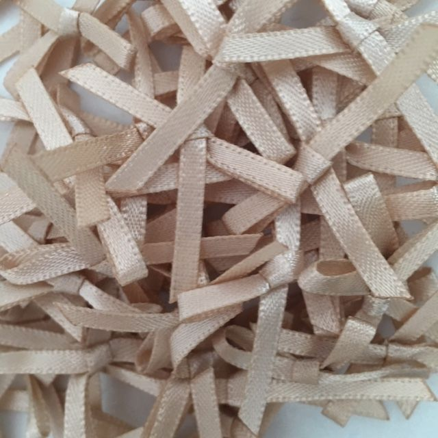Tan Satin 3mm Ribbon Bows